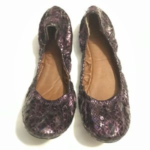 Lucky 🍀 Brand purple black snake ballet flats 🥿